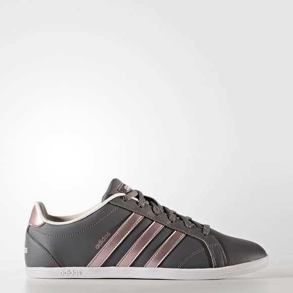 Grey And Rose Gold Adidas Sneakers